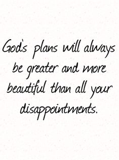God plans