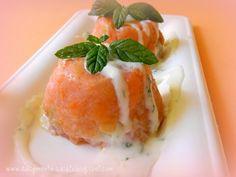 Cupole di salmone con salsa di yogurt alla menta