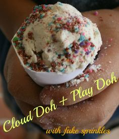 cloud doh with dried play doh sprinkles
