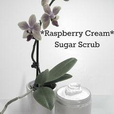 RASPBERRY CREAM Whipped *LOVE Sugar Scrub from P.S. I Love Soap Co sugar scrubs, soap, raspberri cream