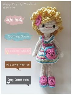handmad doll, amigurumi doll, crochet doll, pretti doll