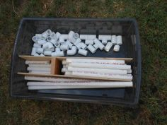 PVC Pipe Building. GREAT outdoor activity that could keep someone I know entertained for HOURS. I think my child would enjoy it, too! (ha)