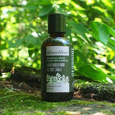 Lavender and Clary Sage Organic Body Oil, by skinnyskinny. Packed with nutritious, restorative plant oils and nothing else! Vegan. Eco-friendly. $30