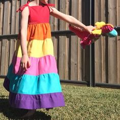 Whether you are a fan of the 80s cartoon or just love bright and colorful girls dress patterns, the Rainbow Brite Girls Dress Pattern is sure to tickle your fancy. This bold and comfy dress pattern for girls is going to be the talk of the classroom when your girl wears it to school or Sunday school.