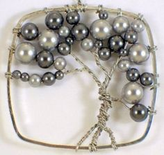 tree of life ornament - beads & wire! by jill