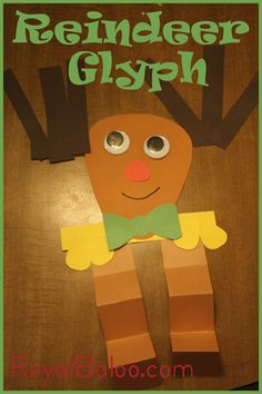 Reindeer Glyph with free printable