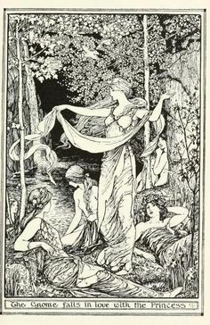 The brown fairy book (c1904)  illustrations by Henry Justice Ford    The gnome falls in love with the princess
