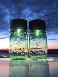 Ball Spring Green Mason Jar Solar Lights™ by treasureagain http://etsy.me/1bTfEGW