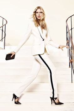 fashion, style, work girl, white, suit, fall 2012, iselin steiro, escada fall, 2012 campaign
