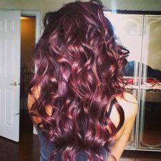 burgundy hair with violet