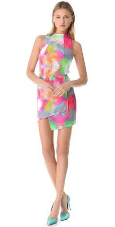 Nicholas Watercolor Dress
