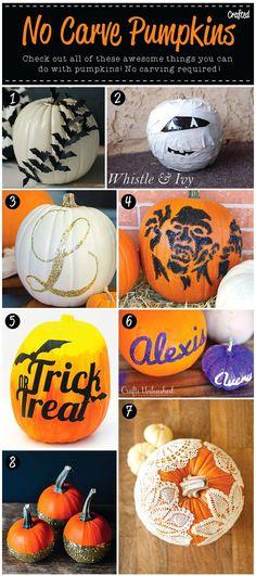 No Carve pumpkin ideas - Halloween Craft