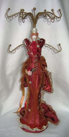jewelry stand, mw dress, victorian gown, ravish red, victorian burgundi, victorian dresses, ékszertartó, jewelry holder, jewelri stand