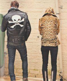 skull, leather, leopard