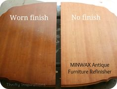 Detailed how to Refinish Antique Furniture + Products
