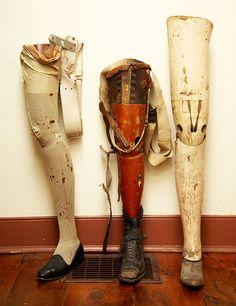 prosthetic wooden legs