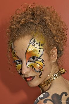 Butterfly 1/2 face paint