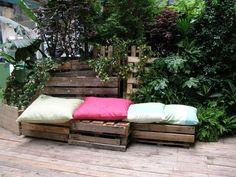 Muebles de palets para el jardín y laterraza