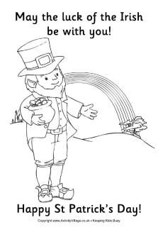 St Patrick's Day Coloring Pages   -  Pinned by @PediaStaff – Please Visit ht.ly/63sNt for all our pediatric therapy pins