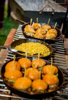 Angus Beef Sliders with Roasted Sweet Corn with Parmesan & Pepper