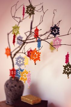 Crochet snowflakes for Christmas Decorations.