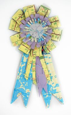 Ribbon made from map