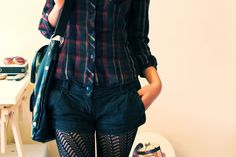 shorts with tights!