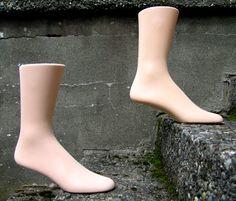 mannequin feet, vintage, sensibl shoe, feet pair, vintag mannequin