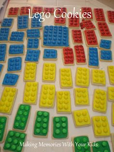 Making Memories ... One Fun Thing After Another: Lego Birthday Party: The Cookies