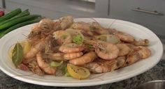 Boiled Shrimp  http://www.timfarmerscountrykitchen.com/appetizers.html
