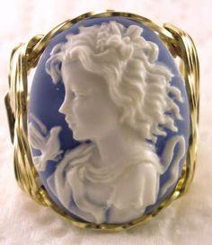 Grecian Goddess Dove Cameo Ring | The House of Beccaria#