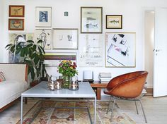 Bolig / Kristian Septimus Krogh / Christina Halskov {eclectic bohemian scandinavian vintage modern living room}