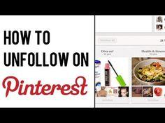 How to Unfollow on Pinterest | Pinterest Board: How to Unfollow #pinterest #socialmedia