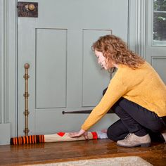 Don't want to buy a draft stopper? Line doorjambs and windowsills with rice-filled socks.