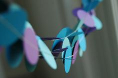 Purple and Teal Wedding Decorations . 10 ft paper by DancingMooney, $10.00