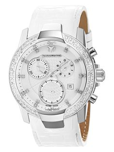Women's White Mother Of Pearl & Diamond Watch by Technomarine at Gilt montr technomarin, accessori mad, technomarin 610004, 610004 uf6