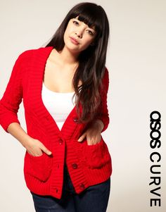 sweaters, red sweater, style, curvi coutur, cloth fashion, aran cardigan, closet, red cardigan, curves