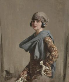 """The Fair Isle Jumper"" by Stanley Cursiter, 1923"