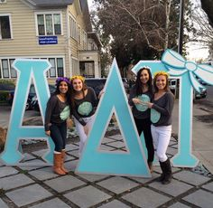 Recruitment Bid Day 2014 Circle long sleeve Alpha Delta Pi Chico State DESIGNED by 4-Greeks!