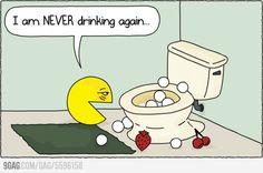 Pac-Man had a rough night