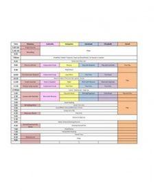 Family Schedule Idea