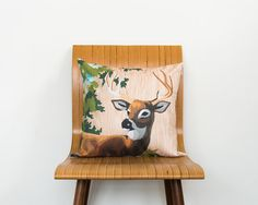 Paint by Number Deer Pillow Cover