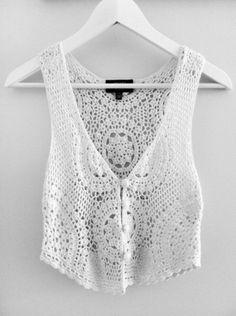 white shirt crochet boho festival crop tops