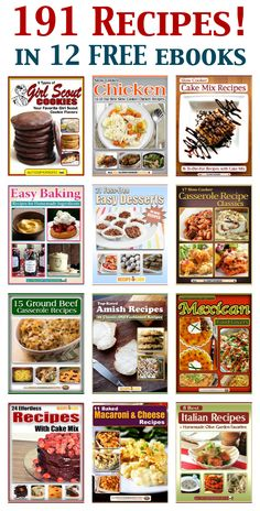 191 Recipes: 12 Free eCookbooks