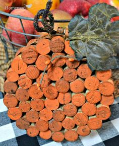 First it was wine corks... then a trivet.... now you won't believe it...  but it's a pumpkin!  http://www.homeroad.net/2013/09/pumpkin-wine-cork-trivet.html