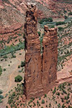 Canyon de Chelly, AZ--Spider Rock on the Navajo Nation. Navajo guides take you through the park.