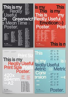 Really Useful Posters #Typography #Type #Lettering #Design