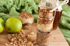Layered Maple Oat n' Apple Dessert Jars
