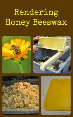 Rendering Honey Beeswax
