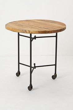 industrial chic rolling side table
